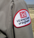 US Corps of Engineers patch on shirt
