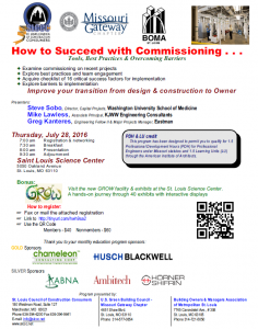 How to Succeed with Commissioning @ St. Louis Science Center | St. Louis | Missouri | United States