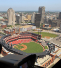 Busch Stadium from helicopter in 2011