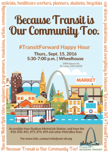 #TransitForward Happy Hour @ Wheelhouse   St. Louis   Missouri   United States