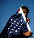 immigrant w flag
