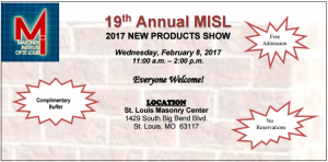 19th Annual MISL 2017 New Products Show @ St. Louis Masonry Center | Richmond Heights | Missouri | United States