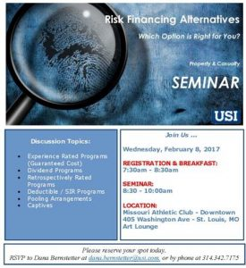 USI Risk Financing Alternatives - Which Option is Right for You? @ Missouri Athletic Club - Downtown | St. Louis | Missouri | United States