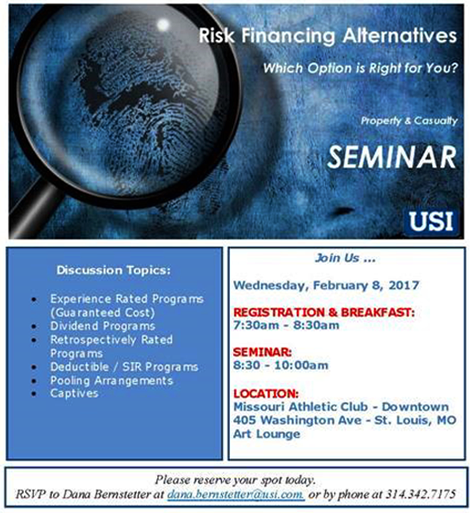 Usi Calendar.Usi Risk Financing Alternatives Which Option Is Right For You