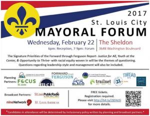 2017 St. Louis City Mayoral Forum @ The Sheldon Concert Hall | St. Louis | Missouri | United States