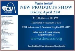 STL CSI New Products Show @ The Heights Community Center | Richmond Heights | Missouri | United States