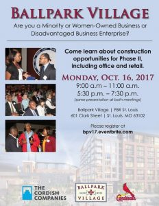 Ballpark Village Construction Opportunity Meetings