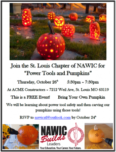 """NAWIC's """"Power Tools and Pumpkins"""" @ ACME Constructors 