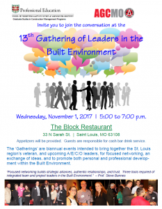 13th Gathering of Leaders in the Built Environment @ The Block Restaurant   St. Louis   Missouri   United States