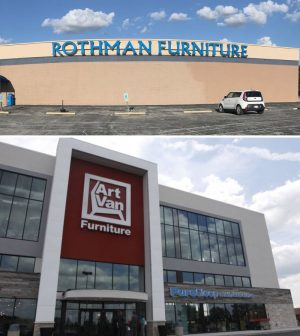 From St. Louis Post Dispatch: Art Van Furniture, A Growing Chain Based In  Warren, Mich., Will Open Early Next Year In Four Former Rothman Furniture  ...