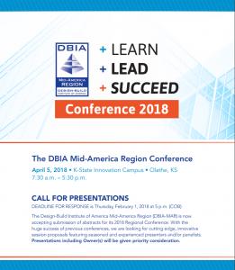 DBIA Mid-America Region Conference @ K-State Innovation Campus | Olathe | Kansas | United States