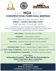 Next NGA West Construction Town Hall Meeting @ William J. Harrison Education Center | St. Louis | Missouri | United States