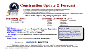 SLCCC Construction Update & Forecast @ Engineering Center | St. Louis | Missouri | United States