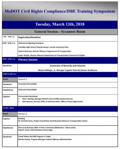 MODOT External Civil Rights / DBE Training Symposium @ Hilton Garden Inn | Columbia | Missouri | United States
