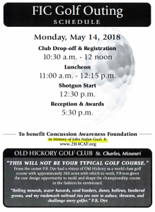 Flooring Industry Council Golf Outing (to benefit Concussion Awareness Foundation) @ Old Hickory Golf Club   St. Peters   Missouri   United States
