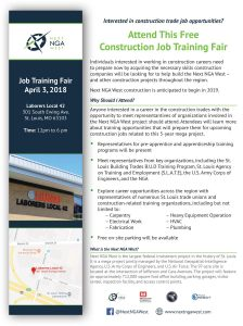 Job Training Fair Hosted by the Army Corps of Engineers @ Laborers' Local 42 | St. Louis | Missouri | United States