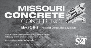 Missouri Concrete Conference 2018 @ Missouri S&T Havener Center | Rolla | Missouri | United States
