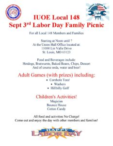 IUOE Local 148 Labor Day Family Picnic @ Union Hall Office | St. Louis | Missouri | United States