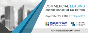 Commercial Leasing and the Impact of Tax Reform @ Pierre Laclede Center | St. Louis | Missouri | United States