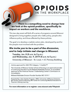 Opioids in the Workplace @ UMSL JC Penney Building