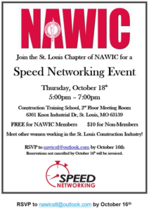NAWIC Speed Networking Event @ Construction Training School | St. Louis | Missouri | United States