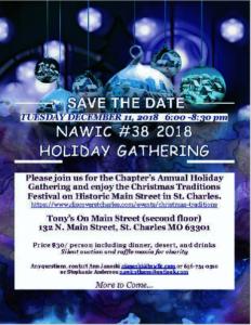 NAWIC #38 2018 Holiday Gathering @ Tony's On Main Street, 2nd Floor | Saint Charles | Missouri | United States