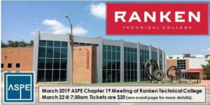 ASPE March Meeting @ Ranken Technical College @ Ranken Technical College