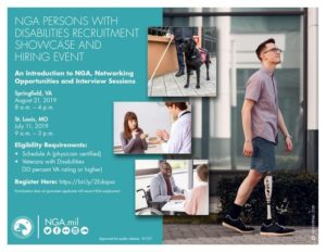 NGA Persons With Disabilities Recruitment Showcase and Hiring Event